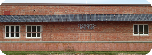 The Stoughton Utilities building at 600 South Fourth Street features 34 photovoltaic solar panels.